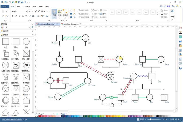 绘制家系图的软件