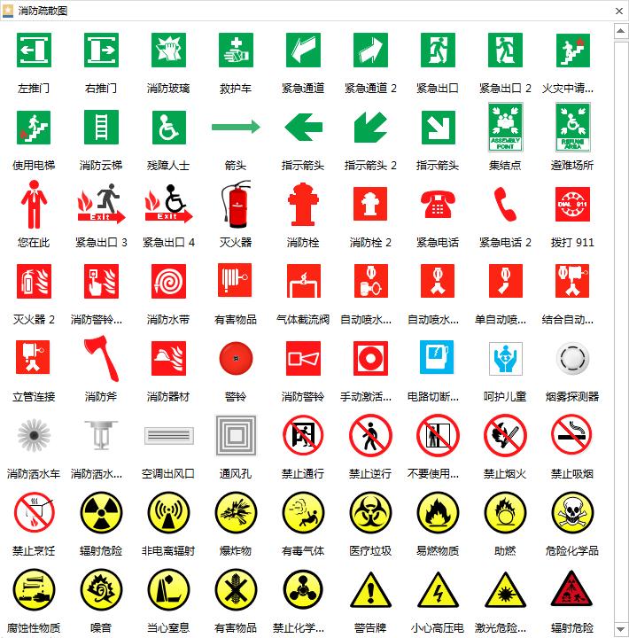 消防疏散示意图符号