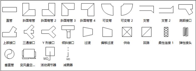亿图管道系统符号