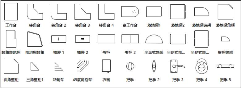 亿图图示柜子符号
