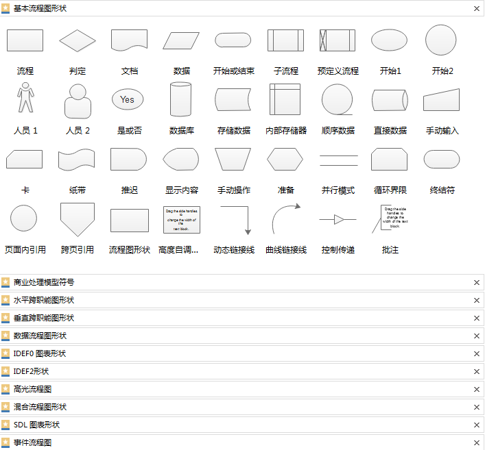 亿图图示符号模板