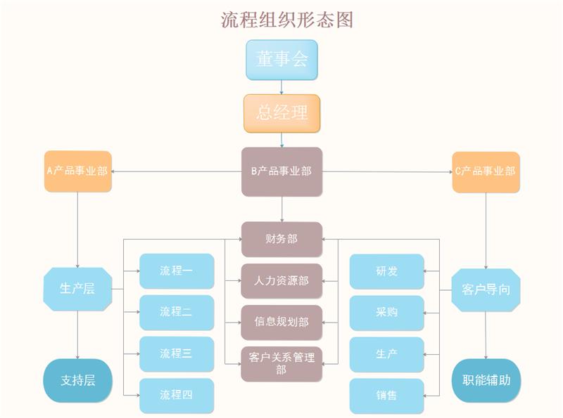 流程组织形态图