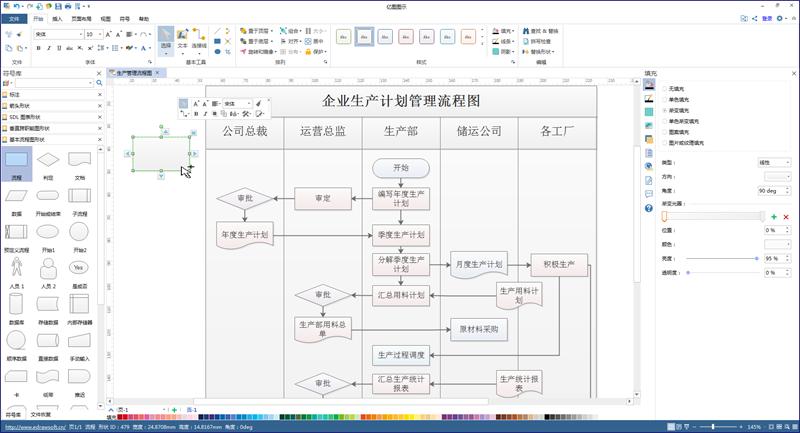生产管理流程图符号