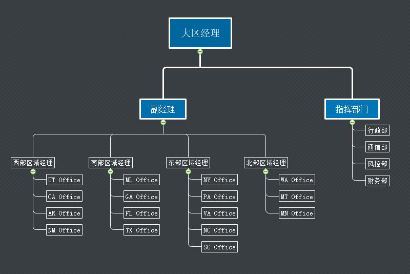 大区经理组织架构图