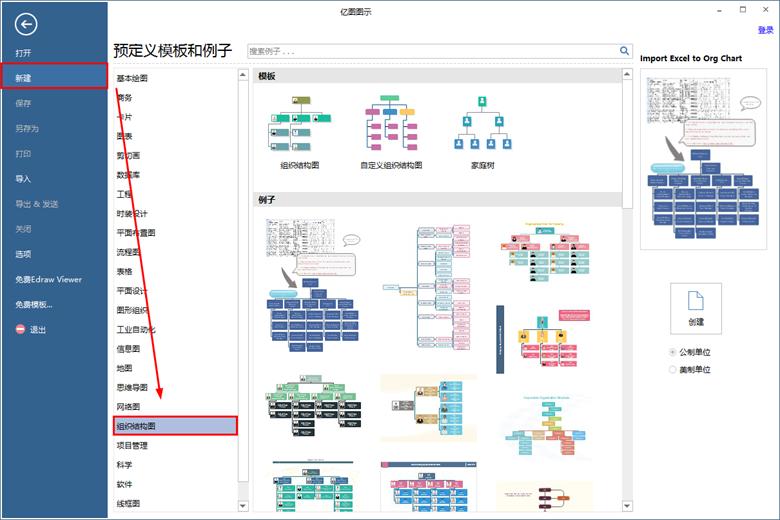 新建组织结构图