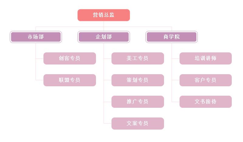 市场营销结构图