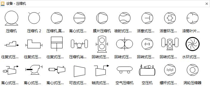 压缩机设备符号