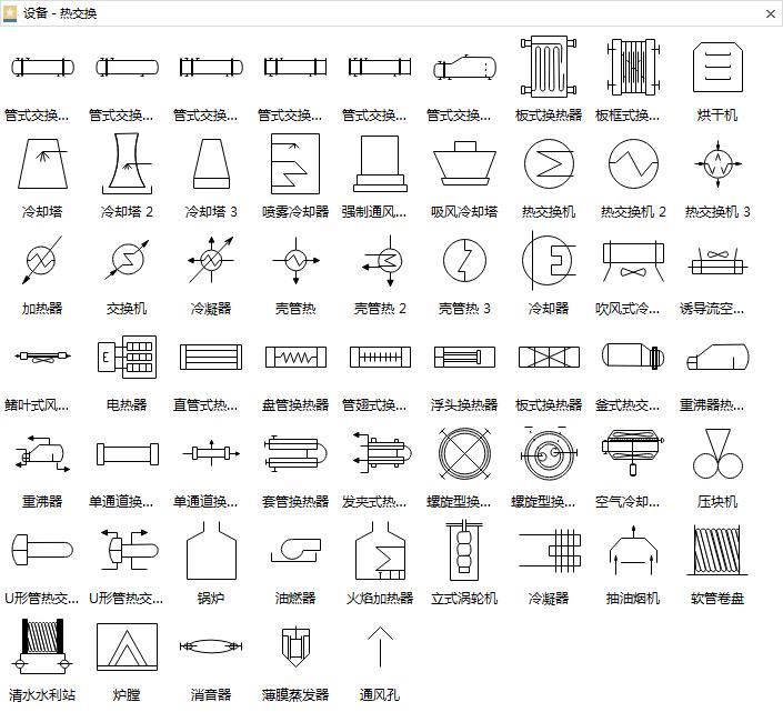 热交换设备符号