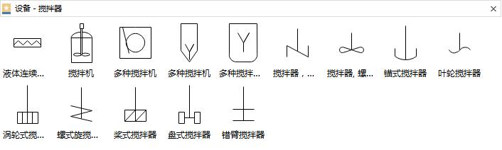 搅拌器设备符号
