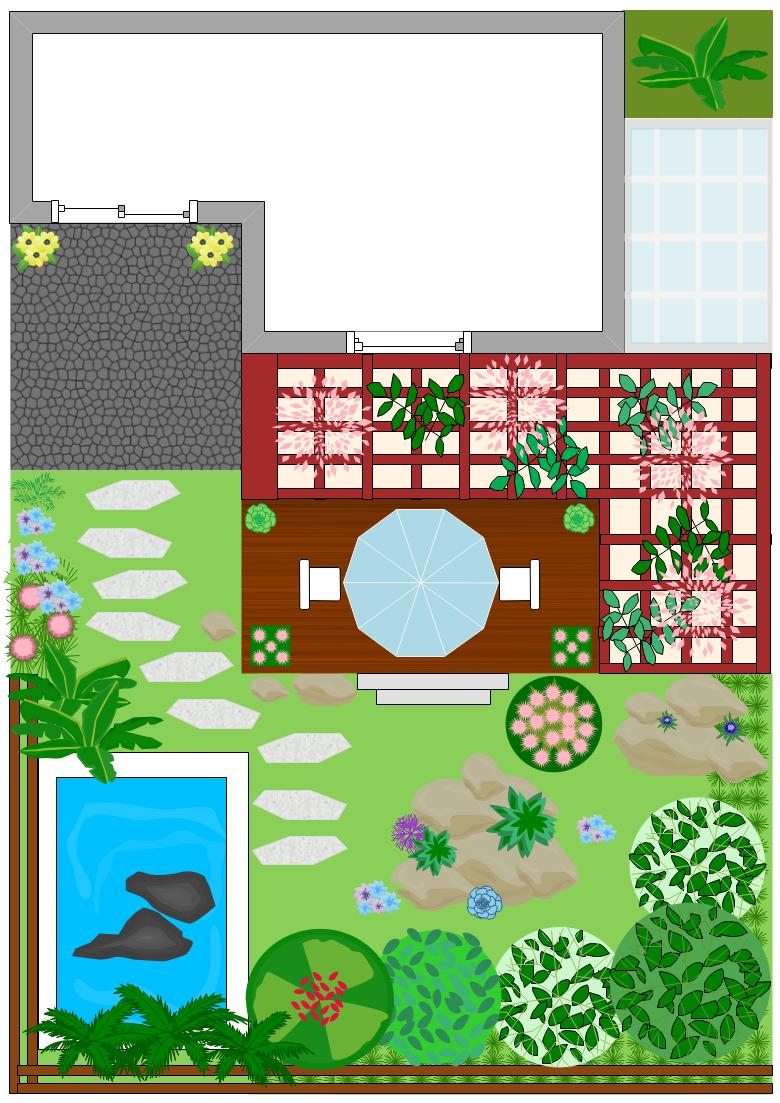 亿图花园别墅平面图符号