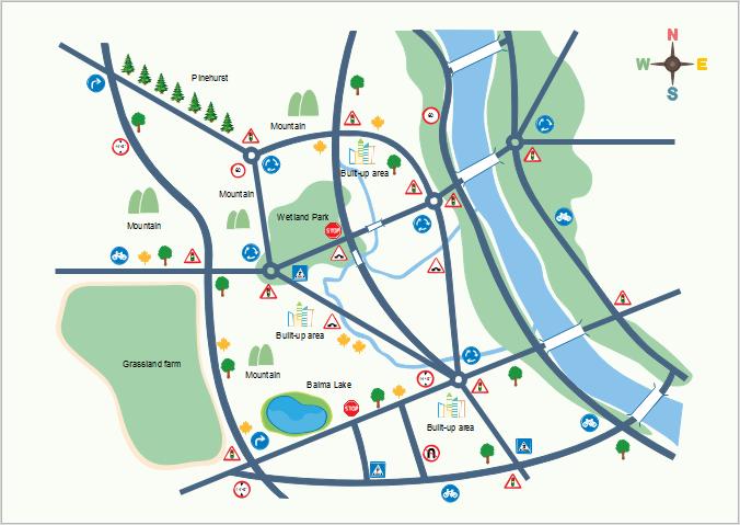 地图的传统、地铁图、位置图设计软件专业平面设计图案图片
