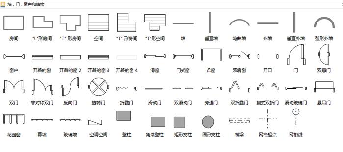 door window structure symbols
