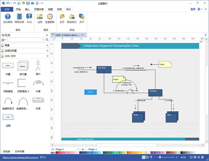 UML 协作图软件