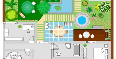 花园别墅平面图符号