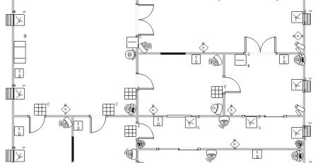 门禁系统平面图例子