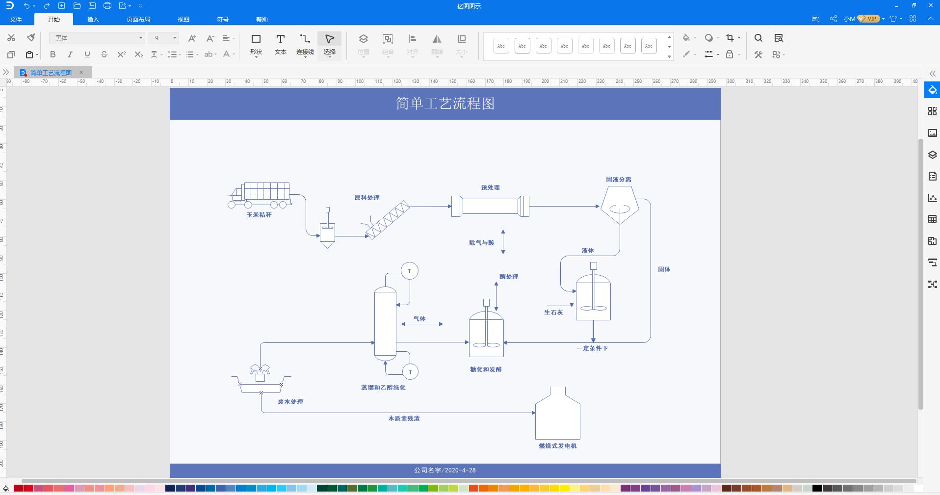 工艺流程图文字