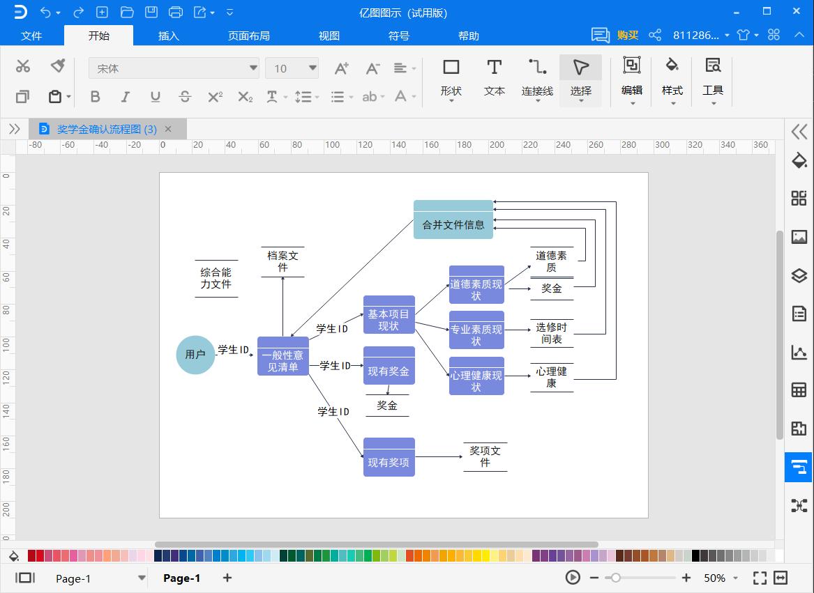 数据流程图模板