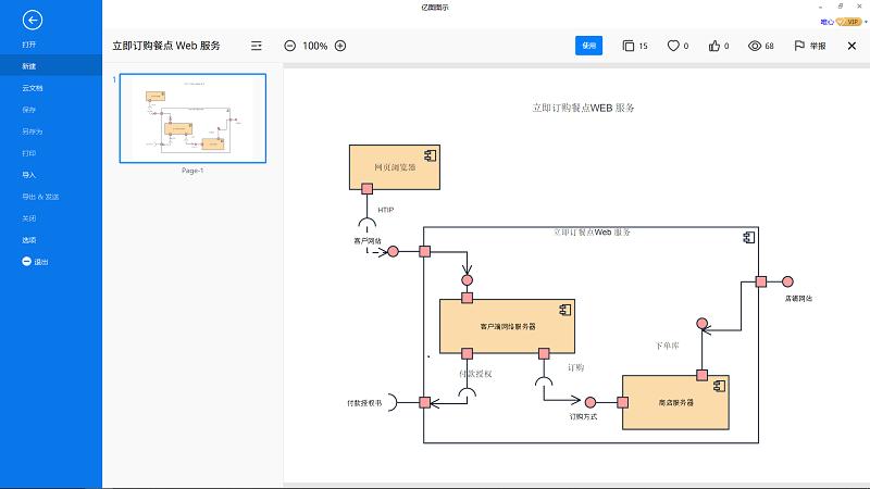 UML类图画布
