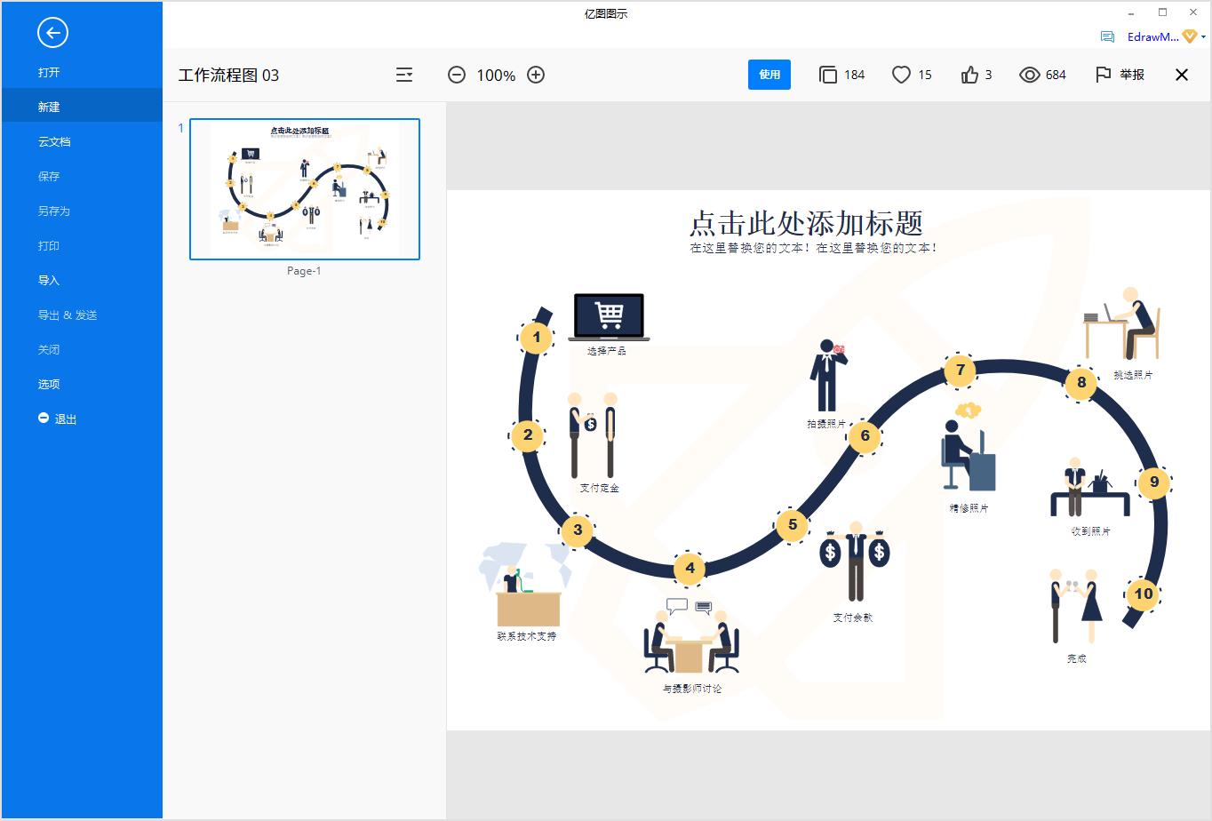 业务流程图模板