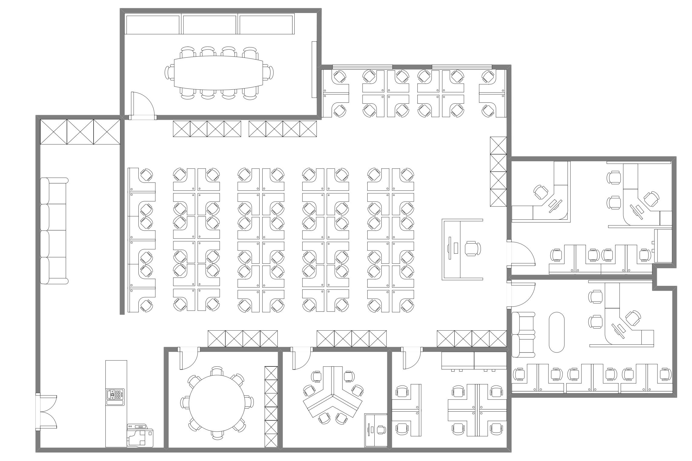 办公室布局图