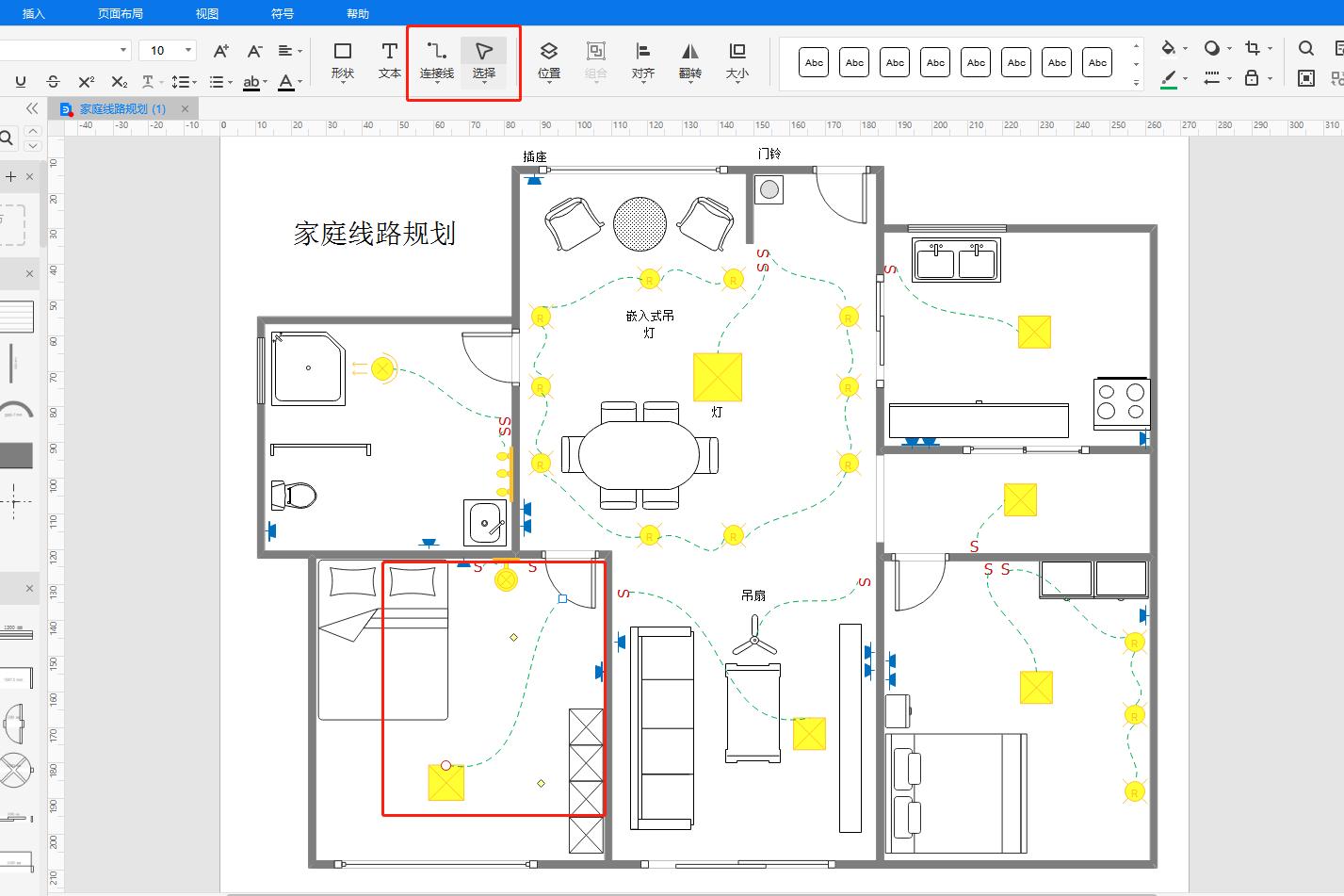家庭线路规划图